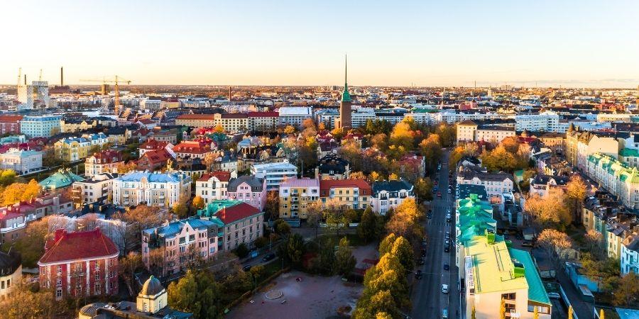 edificios y casas del pais finlandia