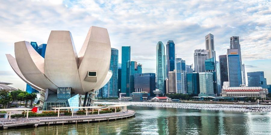 ciudad de singapur, edificios