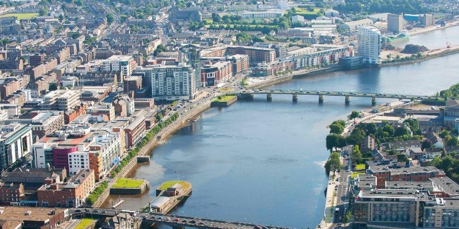 Limerick es una de las ciudades cerca de Dublín